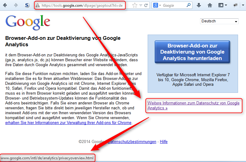 Google Analytics Link Privacy Policy