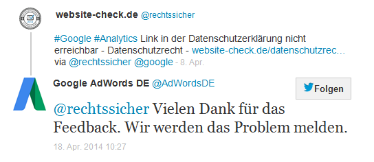 Google Analytics Link Privacy Policy 3