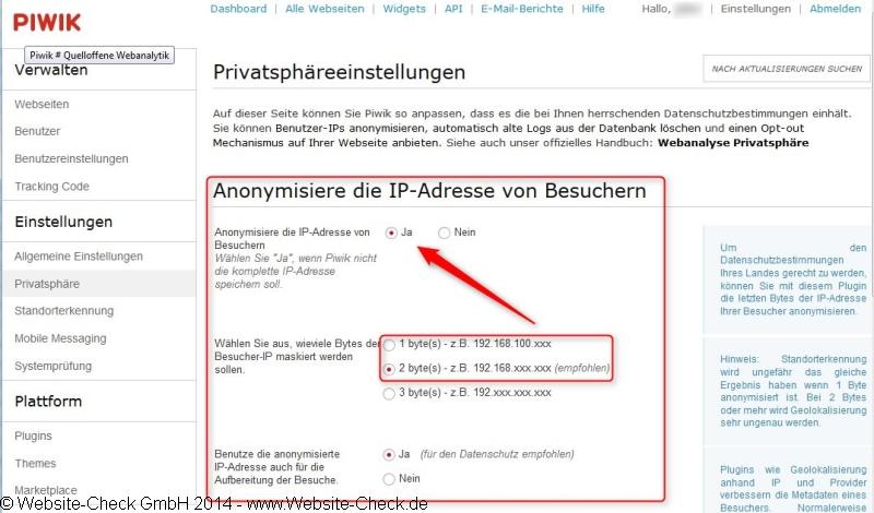 Piwik-Opt-Out-Datenschutz