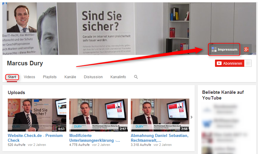 youtube impressum 1