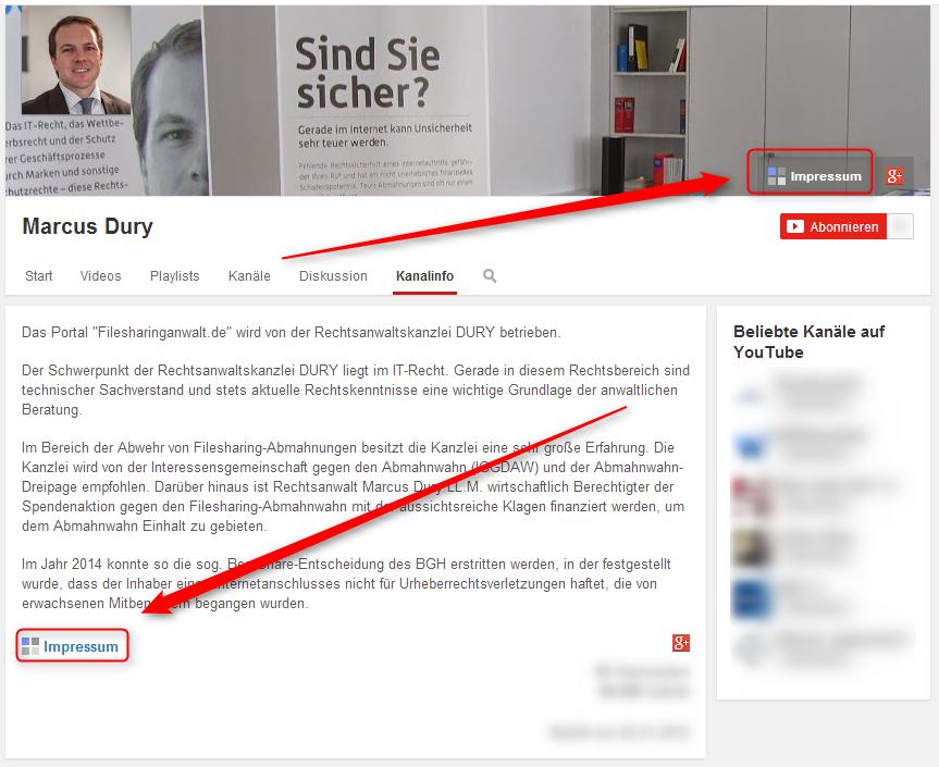 youtube impressum 2