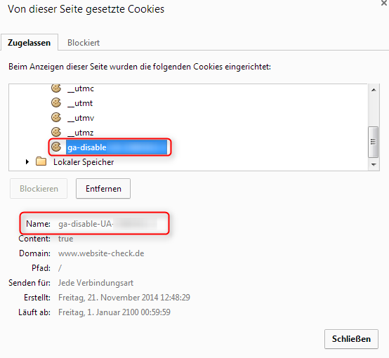 Google Analytics Opt Out Cookie