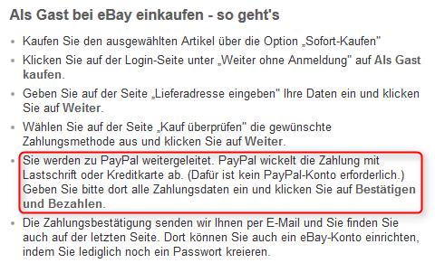 Ebay Warenkorb als Gast kaufen Buttons 04