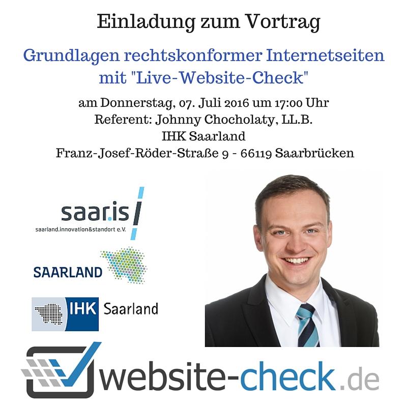 Grundlagen rechtskonformer Internetseiten Live Website Check