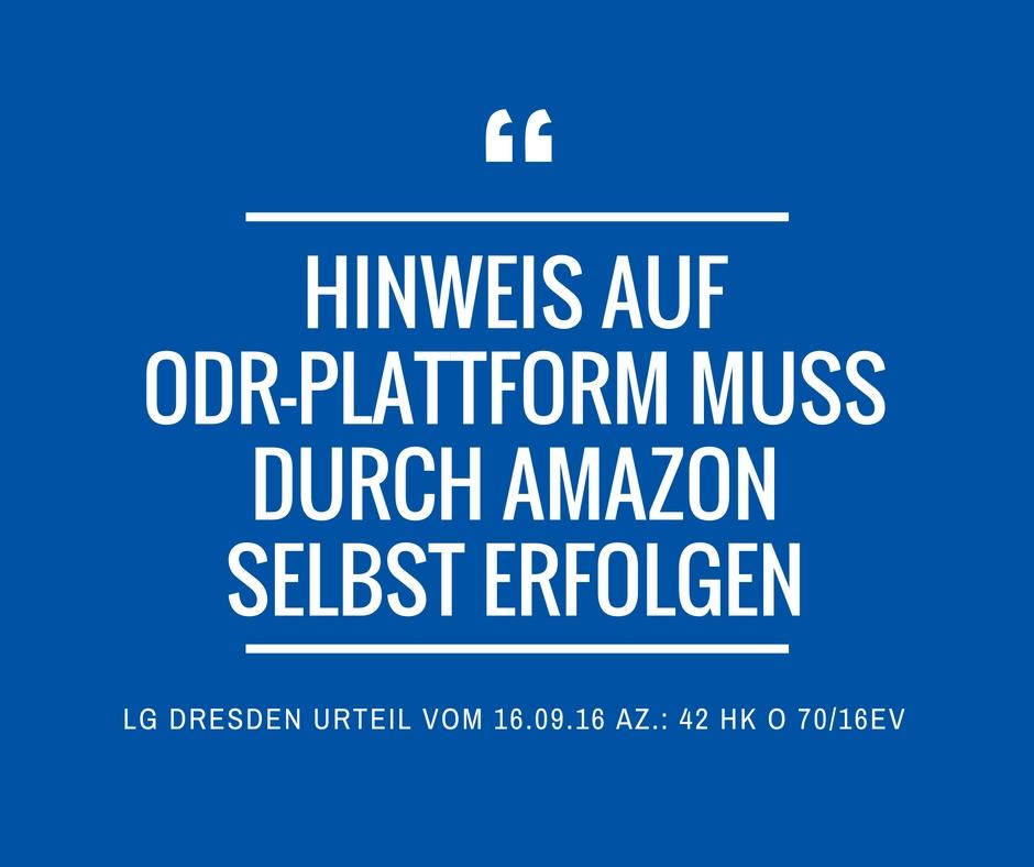 LG Dresden 42 HK O 70 16 EV ODR Amazon