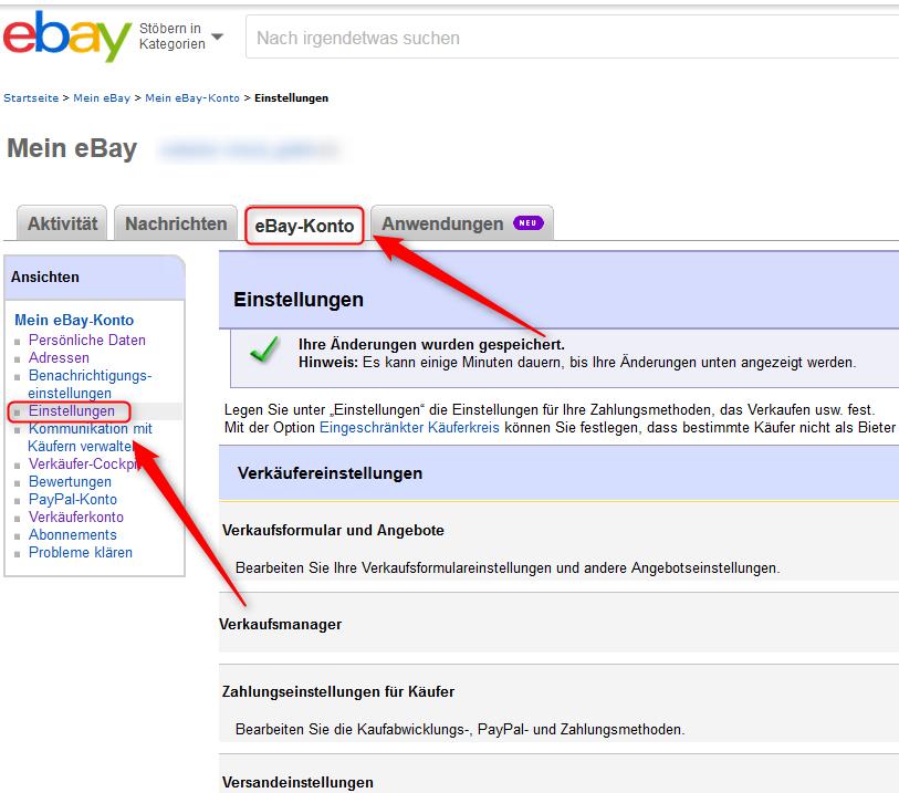 Ebay Paypal Verknüpfung Löschen