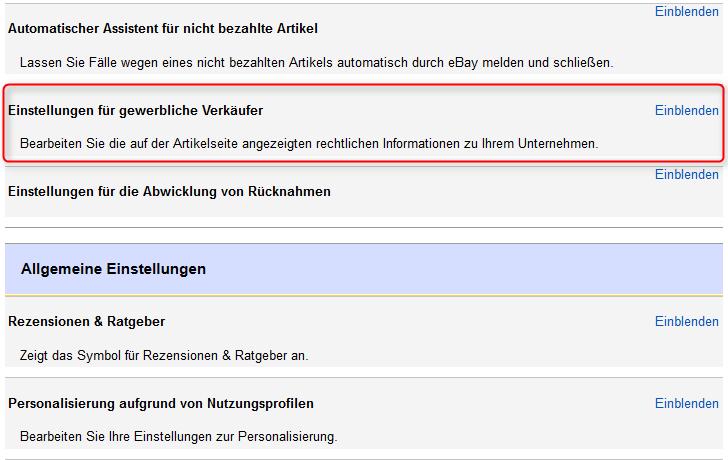 Anleitung Ebay Rechtstexte Wie Agb Impressum Und
